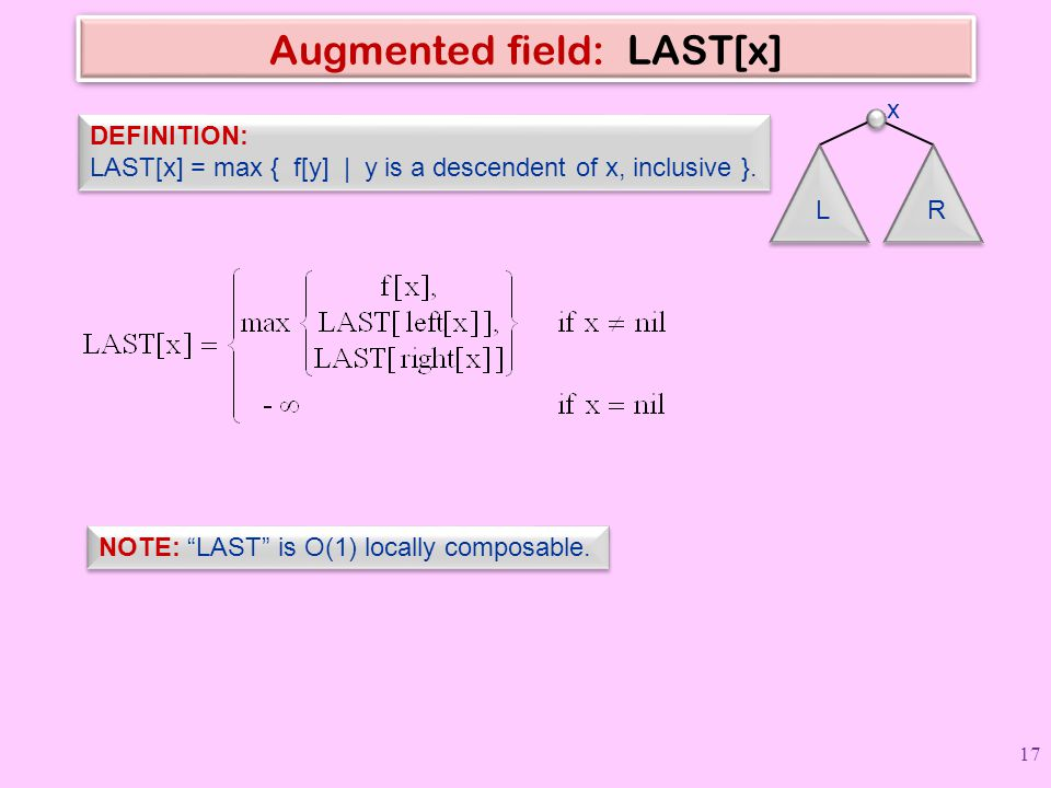 Augmented field: LAST[x]